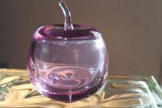 Sweet purple glass art apple by SWEETPRISMS