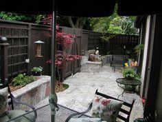 Small narrow courtyard