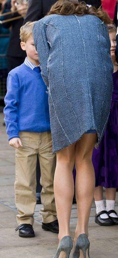 Ops... Kate Middleton mostra mais do que deve