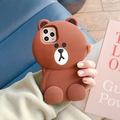 iPhone 11 Pro Max Silicon Case Capa Brown Bear Coque Soft Rubber Cover For iPhone 11 Girly Phone Cases, Pretty Iphone Cases, Best Iphone, Iphone 11, Silicone Phone Case, Cute Cases, Cute Cartoon, Brown Bear, Yorkshire