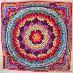 Alfombra mandala con paso a paso y pdf | Todo crochet