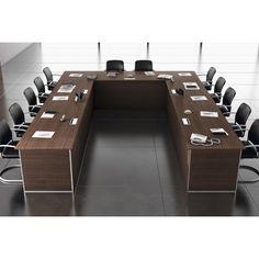 Mesa de juntas modular realizada en DM o M.D.F. de alta calidad. Disponible en varios acabados. http://laoficinaonline.es/muebles-de-oficina/158-mesa-de-juntas-modular.html