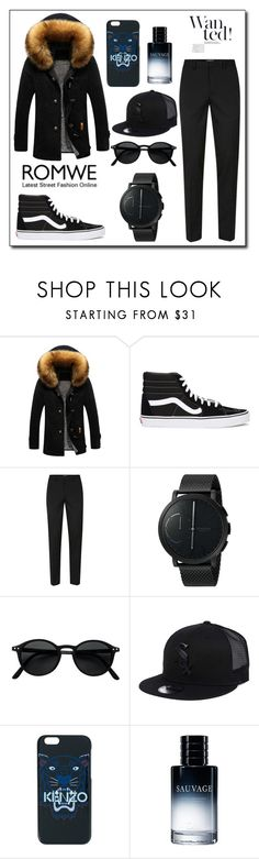 """""""11Banggood amina"""" by fejzic ❤ liked on Polyvore featuring Vans, Topman, Skagen, New Era, Kenzo and Christian Dior"""