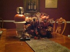 Fall display in dining room