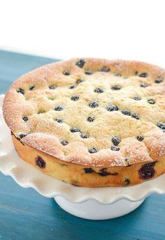 Blueberry and Lemon Sour Cream Cake