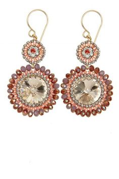 Pink Stone Earrings | Calypso St. Barth