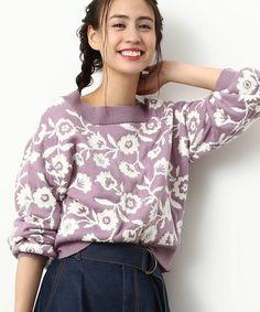 【ZOZOTOWN】ViS(ビス)のニット/セーター「【2WAY】花柄ジャガードプルオーバー」(BVM3741)を購入できます。