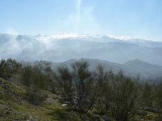 Hike with view of Sierra Nevada from above Beas de Granada