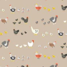 Dear Stella - Farm Life - Chicken Walk in Oxford by Bobbie Lou's Fabric Factory