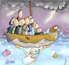 jesus dormido en la barca para colorear - Buscar con Google