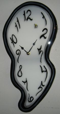 Melting Wall Clock Made to Order by MeltingClocksOrg on Etsy, $55.00