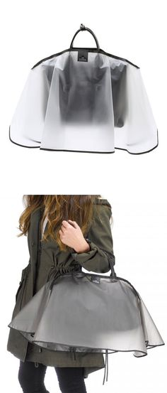 Handbag raincoat - this is kind of genius. Enjoy RUSHWORLD boards, PSST... YOU MIGHT NEED THIS, LULU'S FUNHOUSE and UNPREDICTABLE WOMEN HAUTE COUTURE. Follow RUSHWORLD! We're on the hunt for everything you'll love!