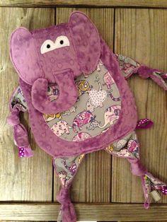 Elephant Tag Blanket by TiedByTi on Etsy, $35.00