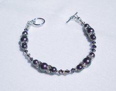 Swarovski iridescent purple crystal pearl by ParkhillDesigns
