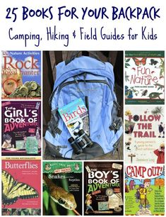 Engaging outdoor books & field guides for kids to take on their next hike or camp-out! Outdoor Learning, Outdoor Education, Kids Education, Environmental Education, Outdoor Classroom, Classroom Ideas, Library Books, Reading Library, Library Ideas