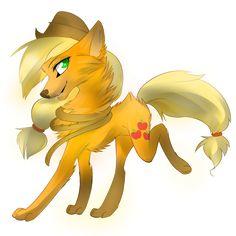 mlp applejack as wolf Dessin My Little Pony, My Little Pony Drawing, Mlp My Little Pony, My Little Pony Friendship, Rainbow Dash, Fluttershy, Imagenes My Little Pony, Little Poni, Mlp Fan Art