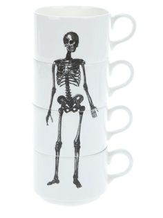 PHOEBE RICHARDSON Stackable skeleton coffee mugs