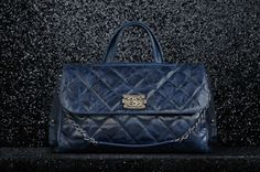 FLAP BAG crackled glaze calfskin satchel with double handle