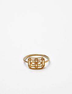 Grace Lee 14k petite lace deco VIII ring at Bird : ShopBird.com