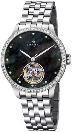 Perrelet Watch First Class Open Heart Lady #add-content #bezel-diamond #bracelet-strap-steel #brand-perrelet #case-depth-10mm #case-material-steel #case-width-35mm #delivery-timescale-1-2-weeks #dial-colour-black #gender-ladies #luxury #movement-automatic #official-stockist-for-perrelet-watches #packaging-perrelet-watch-packaging #style-dress #subcat-first-class-open-heart #supplier-model-no-a2069-4 #warranty-perrelet-official-2-year-guarantee #water-resistant-50m