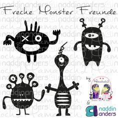freche Monster Freunde ♥ Freebie | von Mamahoch2