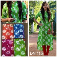 Exclusive Cotton Kurthis Here is the beautiful cotton kurthis available with reasonable prices.This summer this cotton kurthis are very much suitable these cotton kurthis are available in 4  nice bright colors. XL,XXl sizes are available. To buy this kurthis details below.