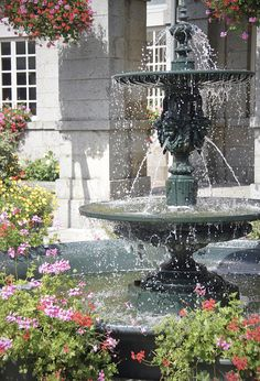 Normandy - gorgeous fountain