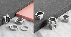 stacking rings stainless steel flat colletction colla jewelry colla fancy that omega delta