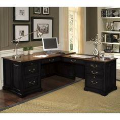 Riverside Bridgeport L-Shaped Computer Desk