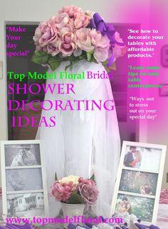 Bridal Shower Decorations | Bridal Shower Decorating Ideas In Pink & Purple | Unique Floral ...