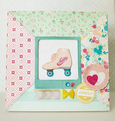 Oh Darling altered frame by Katie Ehmann for Crate Paper