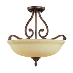 View the Millennium Lighting 1033 Courtney Lakes 3 Light Semi-Flush Ceiling Fixture at LightingDirect.com.