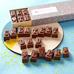 chocolate message for dad by morse toad | notonthehighstreet.com