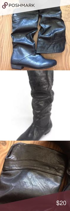 New Women's Slouch Boots Black Size 6.5 New with box Man Made  Slouch Boots Size 6.5 White Mountain Shoes