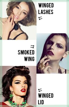 different types of winged liner