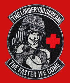 $5.99 - Louder You Scream Faster We Come Medic Ems 3.5 Inch Iron On Patch #ebay #Home & Garden