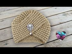 Crochet Tutorial – Turban Beanie - Design Peak, In today's tutorial we are going to have a little Asian culture exposure. We are going to learn to crochet a beautiful turban beanie. Turban Crochet, Lidia Crochet Tricot, Crochet Cap, Crochet Beanie, Knitted Hats, Easy Crochet, Sombrero A Crochet, Knitting Patterns, Crochet Patterns