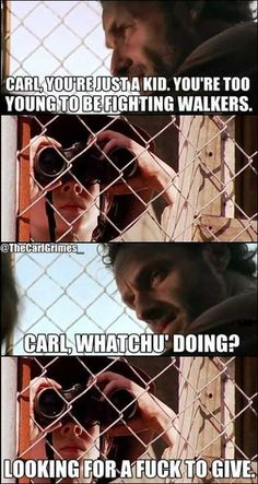 - Coral - Humor Me - The Walking Dead Carl Memes
