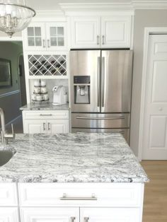 granite kitchens wooden kitchen set for toddlers eat in and cook monogram white 2019 cabinet layout next to fridge coffee nook transitional must haves viscon countertops