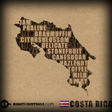 The full range of our Costa Rican Coffee flavours in a clever infographic