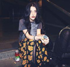 Long floral skirt, dark and grungey x