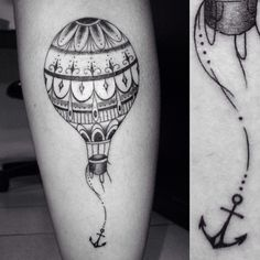 Same idea but with a vintage hot air balloon and an anchor that is made of knights amour