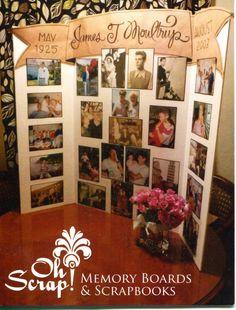 Memorial Boards: Memory Boards of Family Photos In Memory Of Dad, In Loving Memory, Funeral Planning, Funeral Ideas, Funeral Gifts, Colegio Ideas, Memory Table, Funeral Memorial, Picture Boards