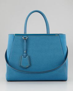 2Jours Vitello Elite Medium Tote Bag, Turq by Fendi at Bergdorf Goodman.