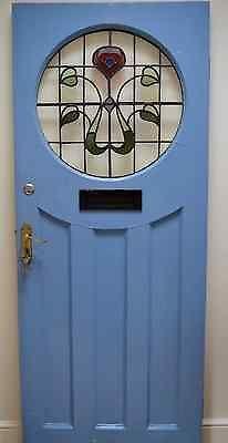 53 Ideas For Blue Door House Stained Glass Green Front Doors, Front Doors With Windows, Exterior Front Doors, Front Door Colors, Entry Doors, Wood Doors, Glass Door Knobs, Glass Front Door, Composite Front Door