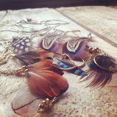 Bijoux plume #anneetc Www.facebook.com/anneetc