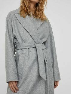 Fortune long wrap coat | GREY Long Jackets, Jackets For Women, Wrap Coat, Long Ties, Models, Winter Accessories, Outerwear Women, Fabric, Mens Tops