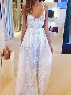 How to Chic: BOHO LACE MAXI DRESS