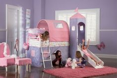 Toddlers Bedroom Ideas for Girls! Wow! How cool would it be to slide out of your bed?:)