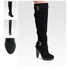 "Kors Michael Kors ""Zanzia"" Over The Knee Boots Black suede over the knee boots in box KORS Michael Kors Shoes Over the Knee Boots"